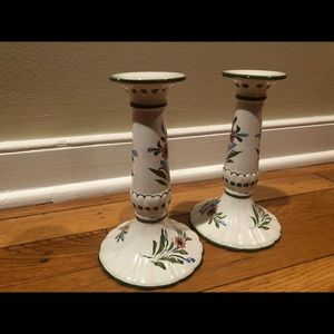 Hand painted in Portugal Candle holders